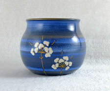 Vase design MANNIS KERAMIK TORSBY SWEDEN Décor floral épuré TBE