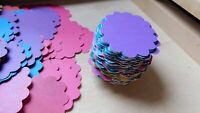 100x Scalloped Oval Shape Gift Tags Wedding Baby Shower Labels Name Place Card