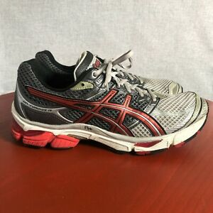 Asics Gel Cumulus 13 Men's Size 10.5 Running Shoes Gray Red Athletic Sneakers