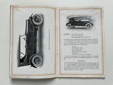 STANLEY MOTOR CARRIAGE Sales Brochure Catalog Vintage ca.1916 Original RARE