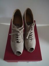 Salvatore Ferragamo - Women's Shoe - Paonessa Biege Suede Calf - Size 8.5B