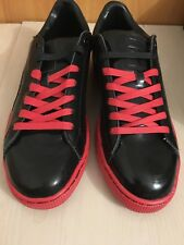 Puma X Meek Silver Basket Mens 359261-01 Black Red Patent Leather Shoes Size 12