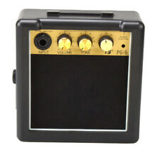 Mini Electric Guitar Amplifier Black and Golden for Acoustic Electric Guitars