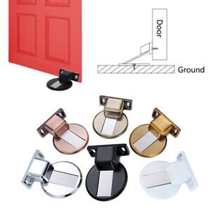 Magnetic Door Holder Stopper Suction Doorstop Wall Floor Mount Safety Catch