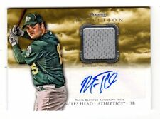 MILES HEAD MLB 2013 BOWMAN INCEPTION RELIC AUTOGRAPHS (OAKLAND ATHLETICS)