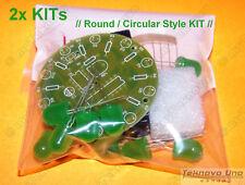 2x ROUND JUMBO Green LED Chaser Follower Scroller DIY KIT NE555 CD4017 - USA