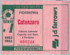 68499 - BIGLIETTO PARTITA CALCIO  Scudetto 1982-83 :  Fiorentina / Catanzaro