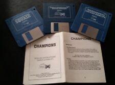 Campeones: 3 Conjunto De Juego Clásico Amiga. Man U/Squash/Boxeo + instrucciones. en funcionamiento 👍