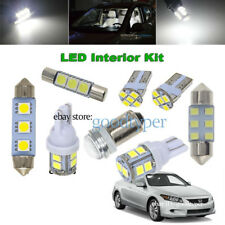 12 Piece White LED lights interior package conversion kit fit Honda Accord #HA1W