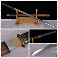 100%Handmade High Carbon Steel Chinese Sword Full Tang Katana Bamboo Fitting