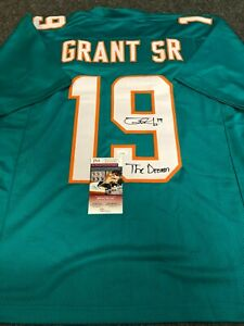 MIAMI DOLPHINS JAKEEM GRANT AUTOGRAPHED SIGNED INSCRIBED JERSEY JSA  COA