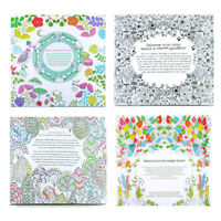 Adult Kids Colouring Paint Book Therapy Stress Relieving Garden Arts Decompress