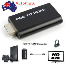 PS2 to HDMI Audio Video AV Adapter Converter w/3.5mm Audio Output for HDTV