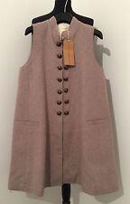 Wool Blend Patternless Casual Sleeveless Dresses for Women