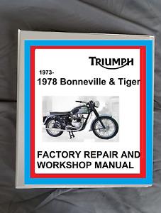 Tiger Triumph Motorcycle Repair Manuals Literature For Sale Ebay
