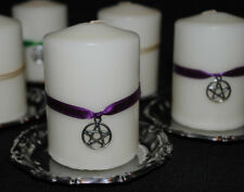 2 x PENTACLE/PENTAGRAM or ARCHANGEL ALTAR CANDLES Cleansed Blessed & Anointed