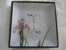 Fringe Studio Glass Trinket Vanity Tray#511059  MONOGRAM I-NIB