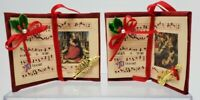 Vintage Velvet Christmas Hymnal - Song Book Ornament - Music