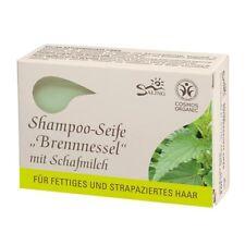 Saling Shampoo-Seife Brennnessel 125g Schafmilch Haarseife bio, Naturkosmetik