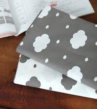 Scandinavian Clouds 100% Cotton Fabric Grey white cloud modern sky 160cm JC5/84-