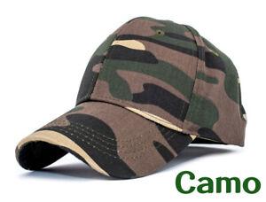 Cotton Baseball Cap Camouflage Hat Men Women Hat Plain Hat Army Hunting Cap