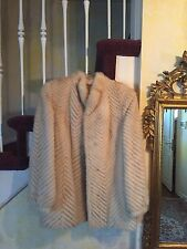 Saga Blonde Mink Ribbed Fur Jacket Size S/M Beautiful WITH COLLAR AND CLOSURES
