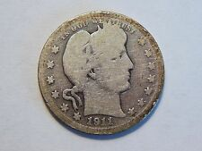 *WOW* 1911-D G Silver Barber Quarter Nice *Key Date* Low Mintage Coin to collect