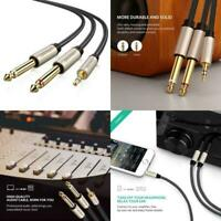 UGREEN 3.5mm 1/8 TRS To Dual 6.35mm 1/4 TS Mono Stereo Y-Cable Splitter Cord Com