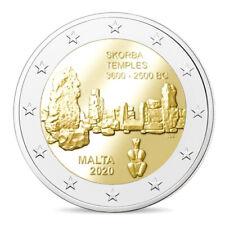 MALTA 2 EUROS 2020 CONM. - TEMPLOS DE SKORBA - SIN CIRCULAR - TIRADA REDUCIDA