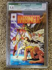 Harbinger #4 CGC 9.4 NM White pages Qualified coupon cut out 1st Ax