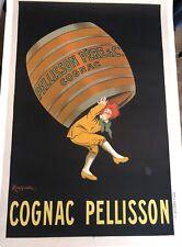 Original Vintage Cappiello Poster Cognac Pellisson ca.1905