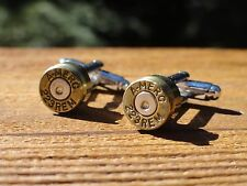 .223 Caliber Cufflinks -- Ammo Ammunition Brass Bullet 5.56x45mm 5.56