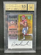 2017 contenders Patrick Mahomes bgs 9.5/10 PLAYOFF TICKET /15!! auto RC.   POP 1