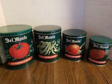 DelMonte Tin Canister Set Vintage Nesting