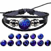 Damen Herren Surferarmband Sternzeichen Blau Geschenk Bracelet Horoskop Chunk