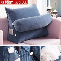 Lumbar Waist Rest Neck Back Pillow Support Wedge Seat Chair Home Cushion AU Q