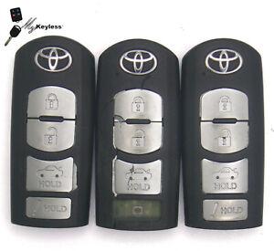 Lot x3 OEM Toyota Keyless Entry SmartKey Locksmith Used - WAZSKE13D02