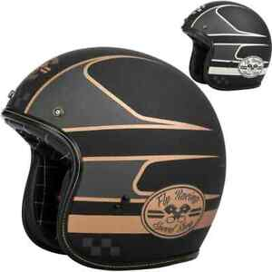 Fly Racing .38 Wrench Mens 3/4 Street Riding Cruising DOT Motorcycle Helmets