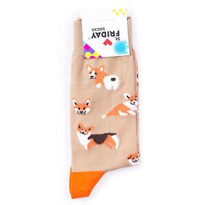 St.Friday Socks Corgis Dog Pattern