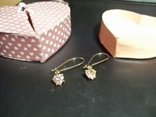 Valentines Day is coming~~AVON WIRE HEART DROP EARRINGS IN HEART BOX CLEAR CZ