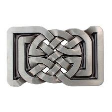 Western Cowboy Celtic Pattern Belt Buckle Rectangle Cowboy for Leather Belt