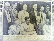 1939 newspaper wth photo 1ST INDUCTEES into BASEBALL HALL OF FAME Cooperstown NY