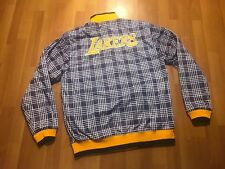 UNK NBA Los Angeles Lakers Mens Size Large Jacket Zip Up Reversible Blue Label