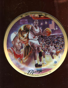 1991 Upper Deck Limited Edition Michael Jordan Chicago Bulls Plate MINT