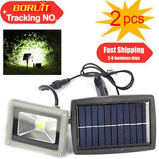 2PCS 10W Solar Power LED Flood Light Outdoor Lamp Garden Spotlight Waterproof AU
