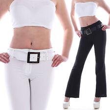 Markenlose Damen-Jeans im Schlaghosen-Stil