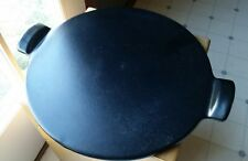 "Emile Henry France Pizza Stone Black 14"" Oven Baking"