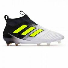 adidas Ace 17+ Purecontrol FG Soccer Cleats S77164 White/Solar Yellow Sz 7.5 US