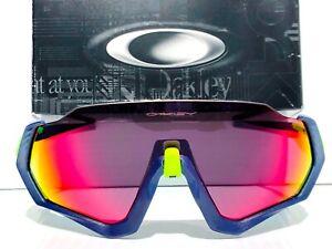 NEW* Oakley FLIGHT JACKET Navy Blue w Prizm Road Ruby Sunglasses oo9401-05