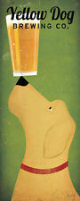 Yellow Dog Brewing Co by Ryan Fowler Beer Sign Dog Lab Animals Print Poster